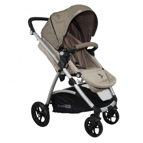 Carucior Copii 3 in 1 SMART TRIO Brown FreeOn